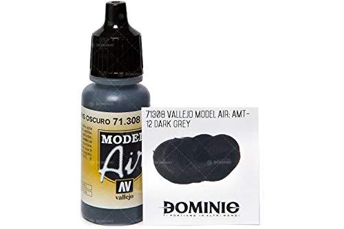 Pintura acrílica color gris oscuro 12 AV Vallejo Model Air de 17ml, AMT