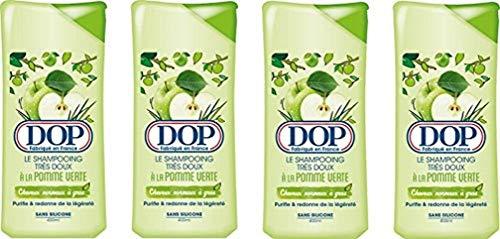 Dop DOP - Champú muy suave con manzana verde, 400 ml, lote de 4