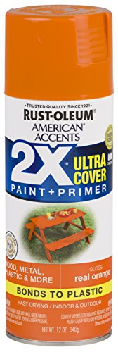 Rust-Oleum 327873 American Accents Spray Paint, Gloss Real Orange,12 Ounce