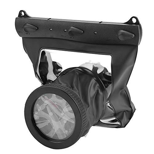 Mugast Universele onderwatercamera, waterdichte behuizing voor maximaal 20 m camera voor de meeste DSLR's zoals Canon, Nikon enz, zwart