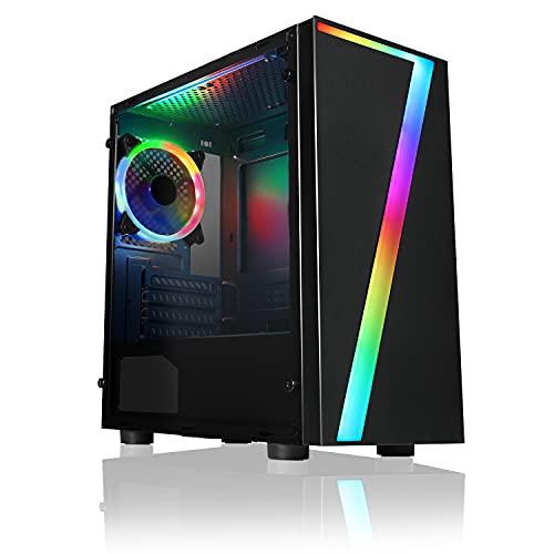 CiT Raider PC-Gaming-Gehäuse, Mid-Tower ATX Sieben RGB