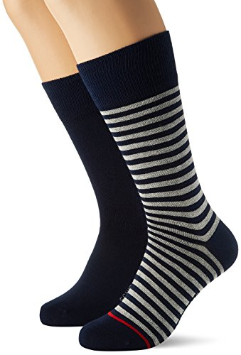 Schiesser Herren Herrensocken (2PACK) Socken, Blau (Dunkelblau), 39-42 (2er Pack)