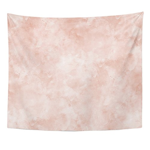TOMPOP Tapestry Pink Marble Watercolor Spots Pattern Abstract Flesh Orange Irregular Home Decor Wall Hanging for Living Room Bedroom Dorm 50x60 Inches