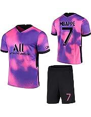 Voetbalshirts voor heren voor kinderen 7# Mbappé 10# Neymar 2020/21 Shirt voor thuisspeler Jersey Fans Korte Mouwen + Shorts