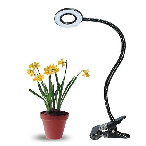 Elfeland ® LED Pflanzenlampe, 10W 18 LEDs Pflanzenlicht Blau&Rot Einstellbare Pflanzenleuchte 2-Stufe Helligkeit für Zimmerpflanzen