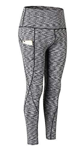 Frauenleggings von Qutool, hohe Taille, für Damen, Sporthose, Yogaleggings, Workouthose, Laufhose XXL 2Light Grey