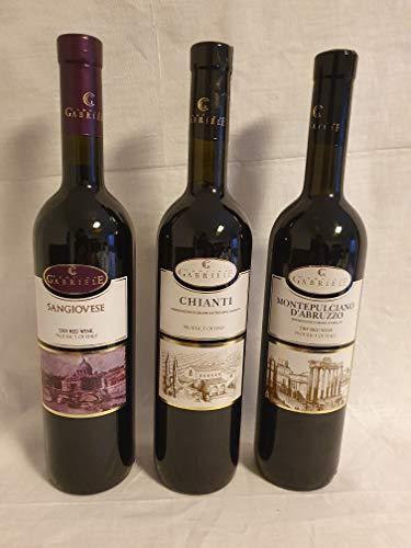 Koscher Weinpaket Kosherer Wein aus Italien vegan Rotwein trocken (3 х 0,75 L) mewuschal Chianti Montepulchiano Sangiovese