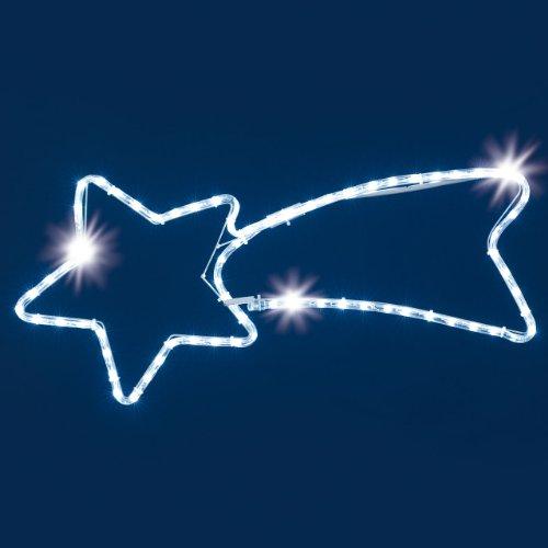 Lotti – Tube lumineux LED à LED avec diamètre 10 mm et 72 LED diamant 230 V, extérieur blanc froid, dimensions : 65 x 30 cm, longueur du câble 1,5 m, article 23239