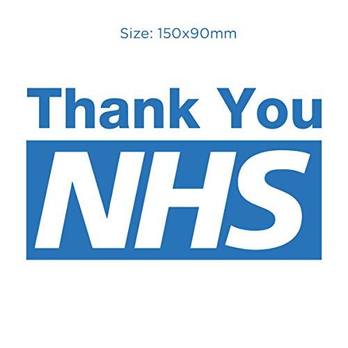 Dank U NHS - Auto, Van, Bumper, Raam, Huis Vinyl Sticker Verwijderbaar (Type 2)