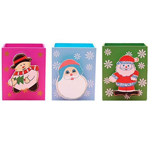 Abaodam 3 soportes para bolígrafos de Navidad, con diseño de dibujos animados, ideal para celebrar Navidad