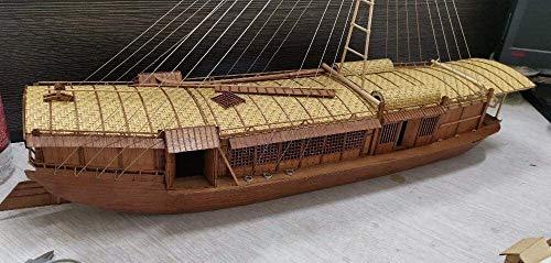 Alysays Inspirierende Dekorationen Wasserfahrzeuge Modell BAU Kits Schiff Modell Boot Kit Cherry Wood Version Schiff Modell Kits 1/50 Qingming Shanghe Tuo River Passagierschiff Modell Kit Einstufung