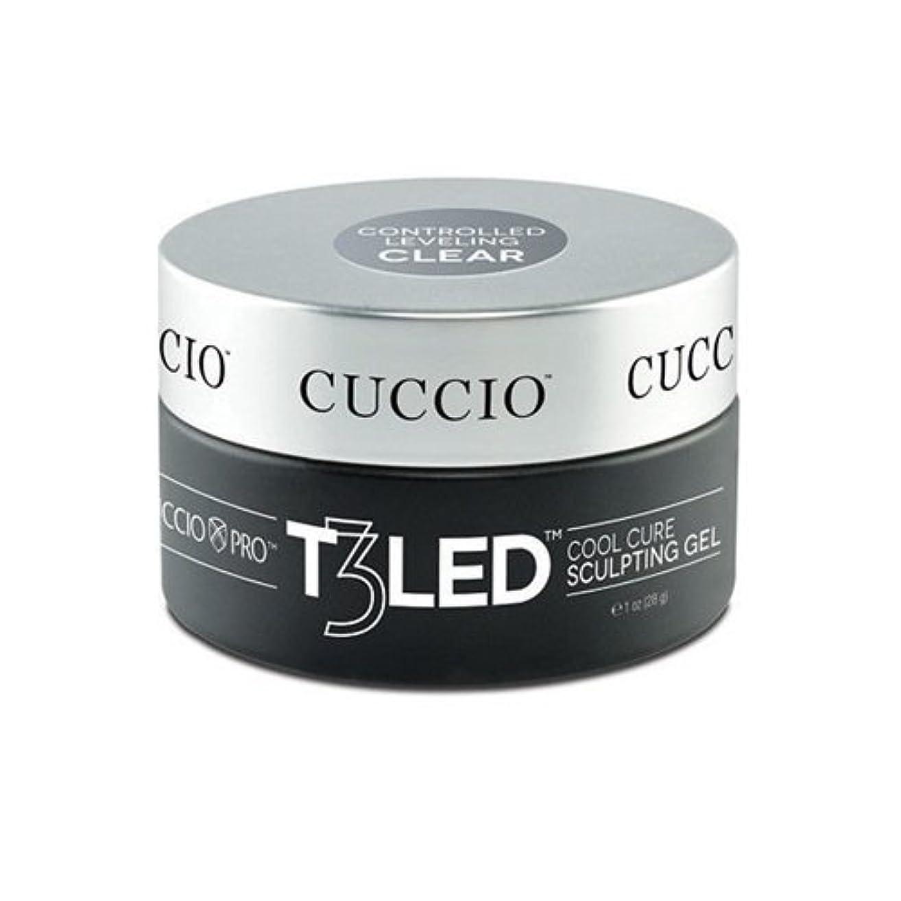 前提オレンジニンニクCuccio Pro - T3 LED/UV Controlled Leveling Gel - Clear - 2oz / 56g