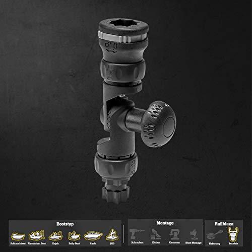 Railblaza Extensor R-Lock, Unisex, Negro, Talla única