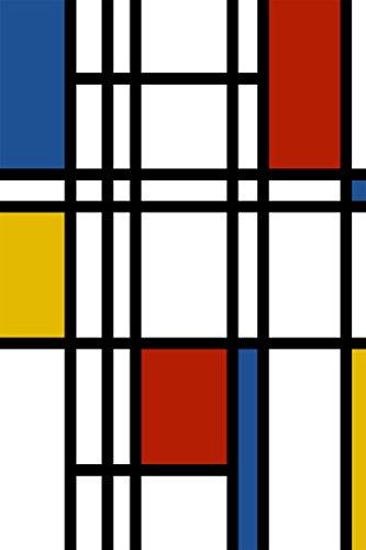 Selbstklebende Fototapete - Mondrian Retro - 150x230 cm - Wandtapete – Poster – Dekoration – Wandbild – Wandposter - Bild – Wandbilder - Wanddeko