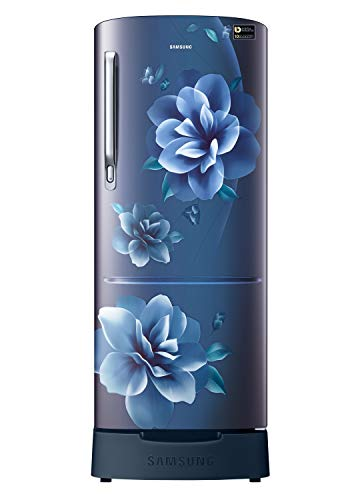 Samsung 192 L 3 Star Inverter Direct Cool Single Door Refrigerator (RR20A182YCU/HL, Camellia Blue, Base stand drawer)