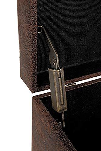 HAKU Möbel Sitztruhe vintage, braun, 65x40x42cm - 3