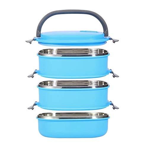 FASEY 3 Piante in Acciaio Inossidabile della Scatola di Pranzo di immagazzinaggio Contenitore Multi-Layer Isolato Lunch Box Portatile Studente Isolato Food Storage Container
