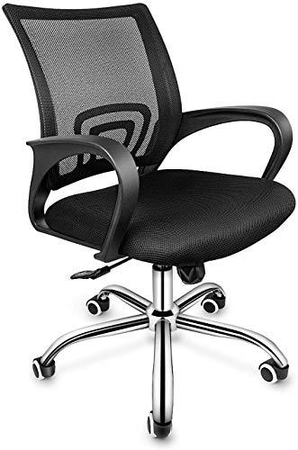 Simplux Task Office Chair Ergonomischer Mesh-Computerstuhl mit Rädern und Armen und Lordosenstütze Höhenverstellbarer Studienstuhl für Studenten Teenager Home Office