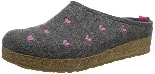Haflinger Couriccini Grizzly, Unisex-Erwachsene Pantoffeln, Grau (Anthrazit 04), 37 EU