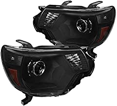 For Toyota Tacoma Pickup Black Retrofit Projector Headlights Replacement Pair