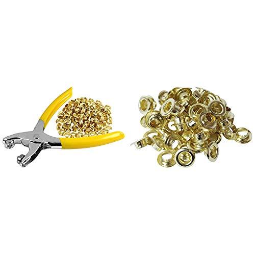 SK11 ハトメパンチ 普及型 ハトメ穴径約6.0mm No.200 & ハトメの玉 60個 ハトメ穴径約6.0mm No.25【セット買い】