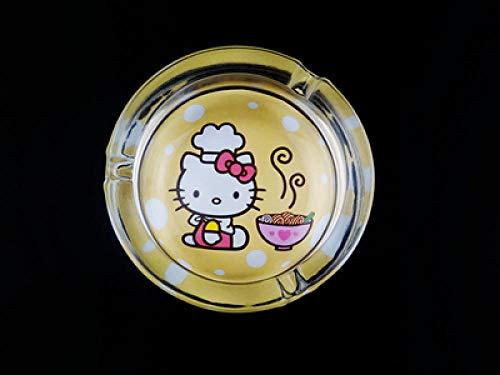 1 piezas de dibujos animados de dibujos animados coche cenicero de vidrio mesa de hogar transparente-Color 3