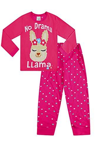 Drama Llama Mädchen Langer Schlafanzug Pink Pyj 9-16 Jahre Gr. 13 Jahre, rose