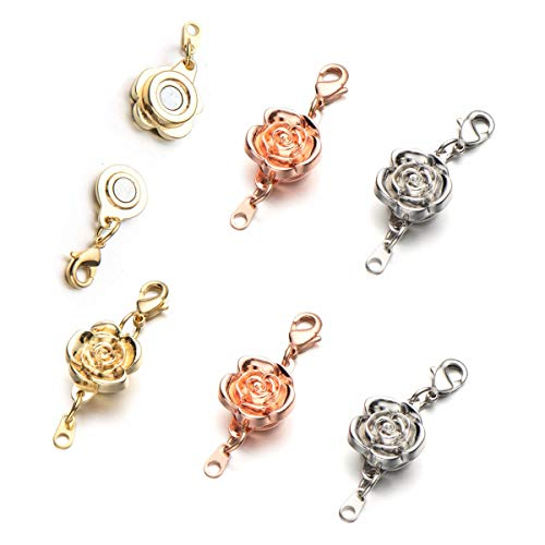 Zpsolution Locking Magnetic Clasps for Necklaces and Bracelets Jewelry Making Clasp Converter