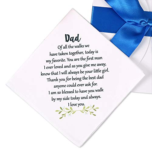 Father of The Bride Handkerchief, Dad Wedding Gift from Daughter,...