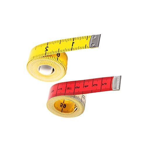 YuuHeeER Regla de medición del cuerpo cinta métrica de doble cara suave para el hogar y profesional 2 piezas