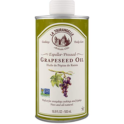 La Tourangelle Grapeseed Oil 16.9 Fl Oz, All-Natural, Artisanal, Great for Cooking, Sauteing, Marinating, and Dressing