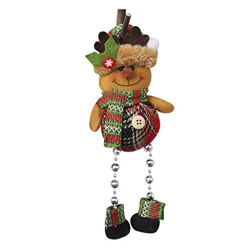 WT-DDJJK Tirador de Puerta, decoración navideña, Sentado, Juguete de Felpa, Papá Noel, muñeco de Nieve, Reno, muñeco, Fiesta