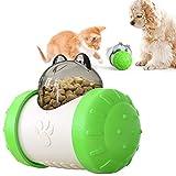 ZONSUSE Cane Giocattolo Palla, Palla per Alimenti per Animali Domestici, IQ Treat Ball Interattiva per Erogare Cibo Giocattolo per Cani Divertente e Interattivo per Spuntini per Cani (Verde)