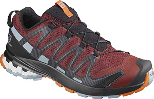 Salomon XA Pro 3D V8, Zapatillas De Trail Running Y Sanderismo Versión Màs Ligera Hombre, Color: Rojo (Madder Brown/Ebony/Quarry), 40 EU
