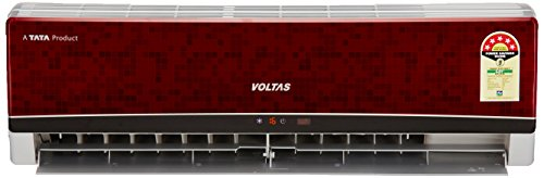 Voltas 1.5 Ton 5 Star (2017) Split AC (185 EYR, Wine Red)