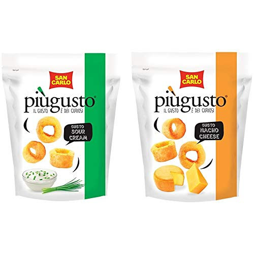 San Carlo Piu' Gusto sour cream e nacho cheese 24 buste da 80 gr