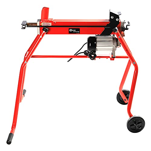 FIDOOVIVIA Electric Hydraulic Log Splitter with Stand 6 Tons Heavy Duty...