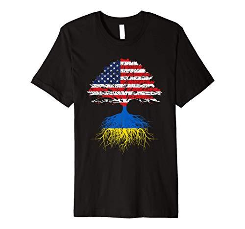 Ukrainian Roots American Grown Ukraine Tshirt Men Women Kids