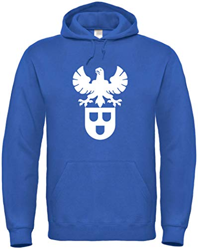Textildruck Universum Hoodie Maler Zunftwappen S bis 5XL (Royalblau, L)