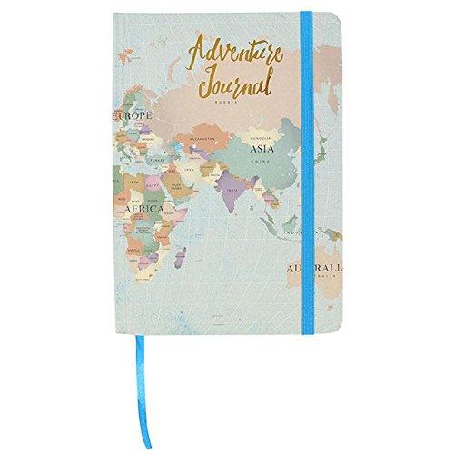 Cuaderno de tapa dura A5 Mapa Mundi - My Travels Adventure