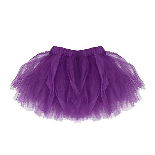 Falda del Tutu para Niña,SHOBDW Bebé Lindo Regalos de cumpleaños para niños Niños Vestidos de Baile Mini Faldas de Ballet Plisadas Rendimiento Fiesta de Lujo(Púrpura)