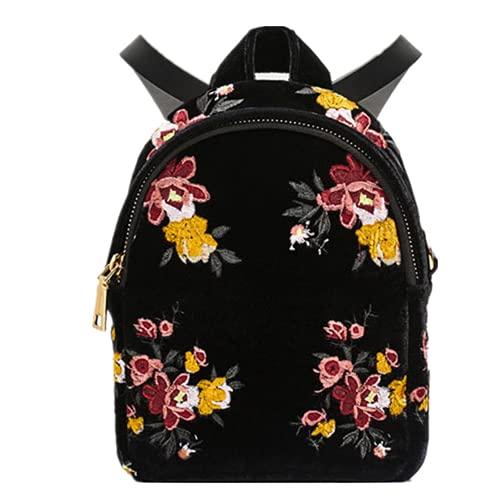 YIXIN Mochila de mujer de flores bolsa de escuela para niñas bolsa de hombro casual mujer bolsa de libro bolsa de senderismo