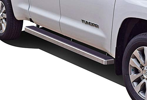 APS iBoard Running Boards 5 inches Compatible with Toyota Tundra 2007-2021 Double Cab (Nerf Bars Side Steps Side Bars)