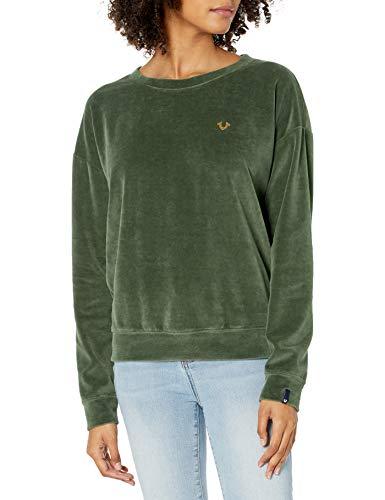 True Religion Women's Velvet Crew Sweatshirt