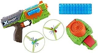 XShot ZU099.00 X-Shot Attack Swarm Seeker Dart-Blaster/Bug-Launcher Pack, Green, Orange, One Size