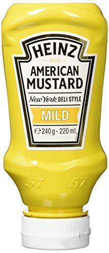 Heinz Yellow Mustard Mild, Kopfsteherflasche, 8er Pack (8 x 220 ml)