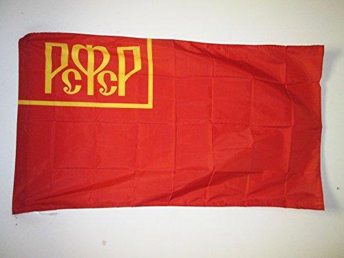 AZ FLAG Bandera de la REPÚBLICA SOCIALISTA Federativa SOVIÉTICA DE Rusia 1918-1925 150x90cm para Palo - Bandera RSFSR Rusa 90 x 150 cm