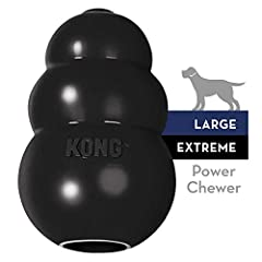 INSTINCTUAL NEEDS: The KONG Extreme black rubber toy helps satisfy dogs' instinctual needs and provides mental stimulation. Healthy play is important for dogs' physical and mental development, emotions and behavior. By encouraging healthy play and sa...