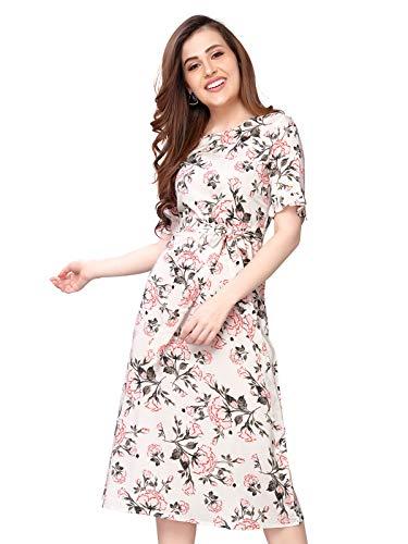 Selvia Women's Digital Print Fit & Flare Rayon Dress