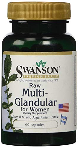 Swanson Premium Raw Multi Glandular for Woman - 2 Bottles of ;60 Caps